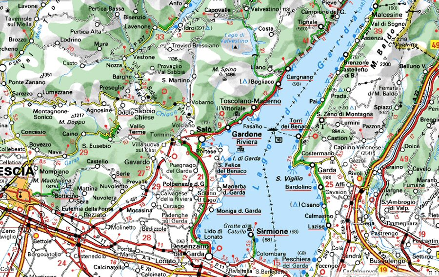 map lac de garde - Image